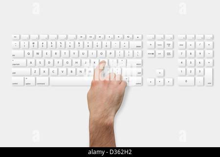 Part sur la touche l du clavier Banque D'Images