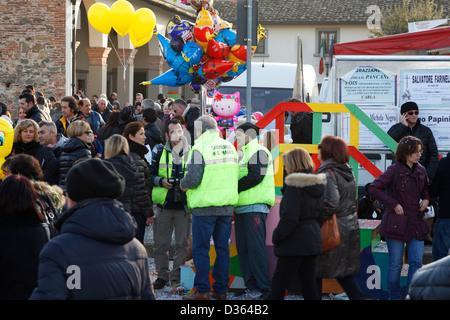 Service de commande pour le carnaval en Italie Banque D'Images