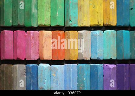 Craie de couleur pastel Banque D'Images