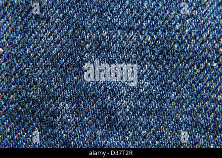 À rayures texturées lin denim jeans bleu arrière-plan. La conception sont sans couture. Banque D'Images