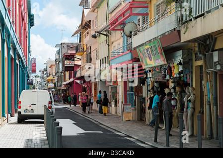 Les rues de Fort De France, Martinique, Petites Antilles, mer des Caraïbes, France Banque D'Images