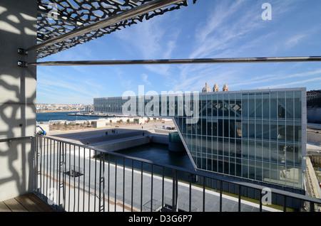 Villa Florida Hall d'exposition et de spectacles du MUCEM Musée par Rudy Ricciotti Marseille France Banque D'Images