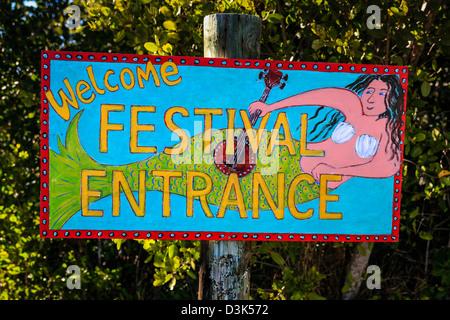 Festival haut en couleurs signer en Floride Banque D'Images