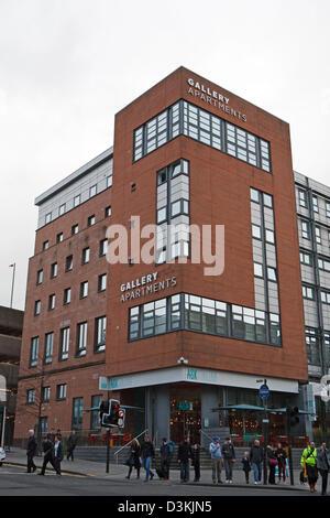 Appartements Galerie Demander avec restaurant au rez-de-chaussée à Glasgow en Écosse