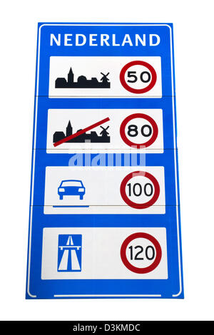 Dutch speedlimit sign Banque D'Images