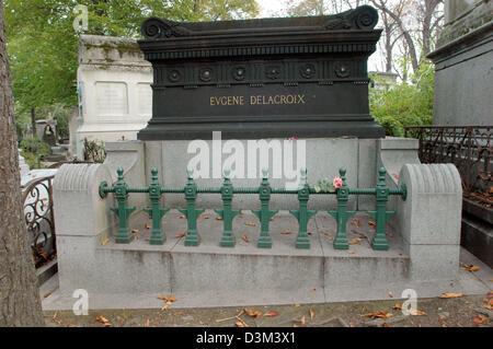 (Afp) - l'image montre la tombe du peintre français Fernand (Victor) Eugene Delacroix (né le 26 avril 1798 dans Banque D'Images