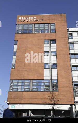 Appartements Galerie moderne privé chambres d'étudiants dans le centre-ville de Glasgow, Écosse, Royaume-Uni