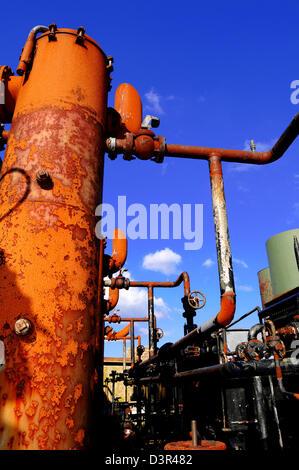 Complexe industriel abandonné Banque D'Images