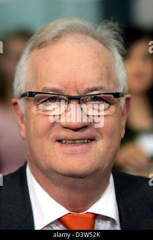 Homme politique danois Jens-Peter Bonde de la partie Junibevaegelsen est photographié lors d'un événement avec les Banque D'Images
