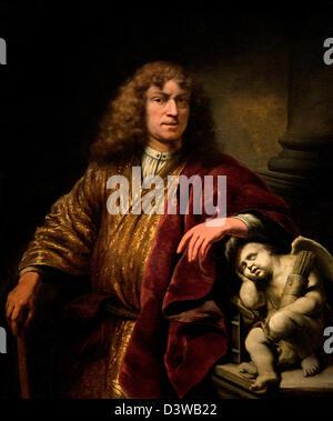 Self Portrait Ferdinand Bol Néerlandais Pays-Bas 1669 Banque D'Images