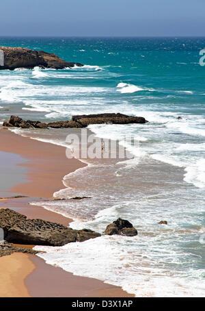 Praia da Cresmina ( partie de la plage de Guincho, Cascais), Côte de Lisbonne, Portugal
