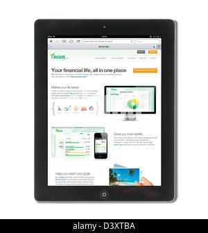 La gestion financière basée web mint.com service, USA Banque D'Images