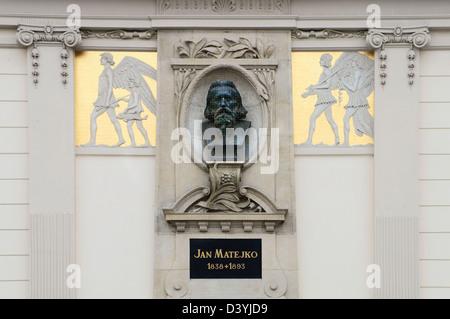 Statue, buste de Jan Matejko (1838-1893), peintre polonais, Cracovie, Pologne, le 25 octobre 2012. (CTK Photo/Libor Banque D'Images