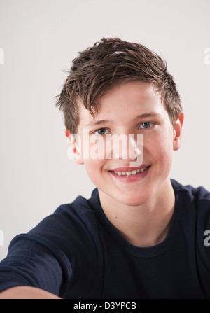 Portrait of Teenage Boy Banque D'Images