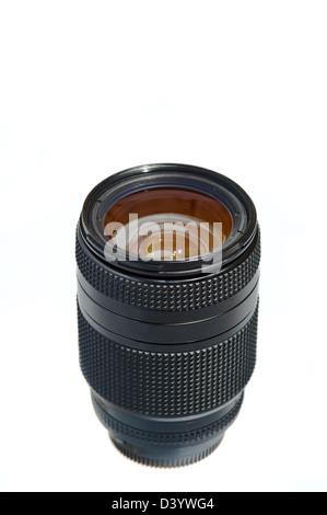 Objectif pour appareil photo photo photo sur un fond blanc Banque D'Images