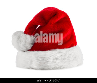Rouge Blanc santa hat in front of white background