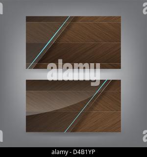 Bois et verre néon thème carte de modèle (partie 1) Banque D'Images