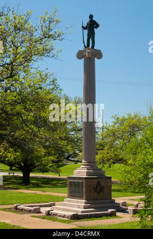 Monument à San Jacinto de maçons Pioneer Banque D'Images