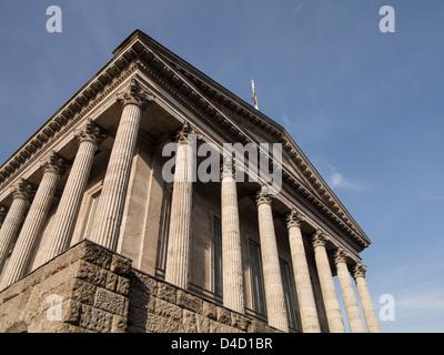 Hôtel de ville de Birmingham uk 1834 conçu par Joseph hanson et Edward Welch Banque D'Images