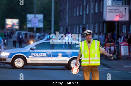 Münster, Allemagne, la police a utilisé lors des matches de football Banque D'Images