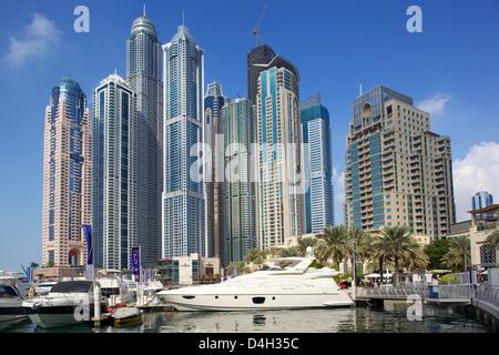 La Marina de Dubaï, Dubaï, Émirats arabes unis, Moyen Orient Banque D'Images