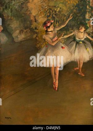 Deux danseurs sur une scène par Edgar Degas, 1874, Courtauld Institute of Art, Somerset House, Londres, Angleterre, Royaume-Uni, France, FR