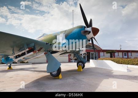 Cuba, province de Matanzas, Playa Giron, Museo de Playa Giron. Hawker Fury cubain d'avions de chasse. Banque D'Images
