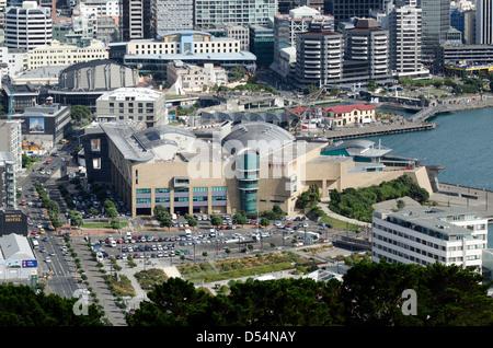 Vue aérienne de la ville de Wellington, capitale de la Nouvelle-Zélande NZ Banque D'Images