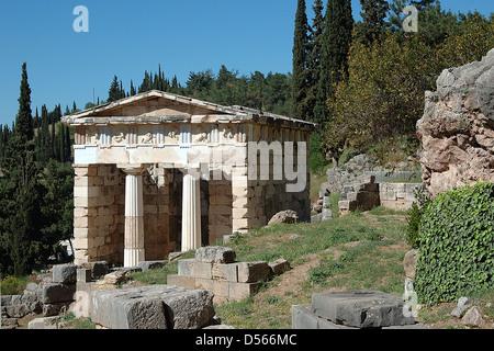 Du Trésor d'Athènes, Delphes, Grèce Banque D'Images