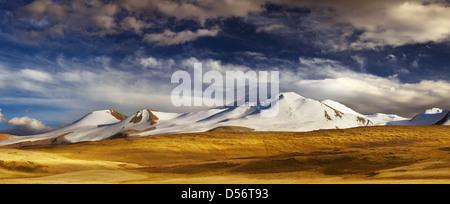 Paysage de montagne, plateau Ukok, la jonction de russe, chinois et mongols frontières Banque D'Images