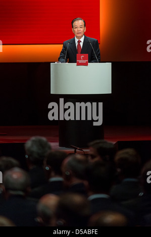 Wen Jiabao, Premier Ministre de la République populaire de Chine, le commerce dans son discours lors de l'ouverture des Hanovre