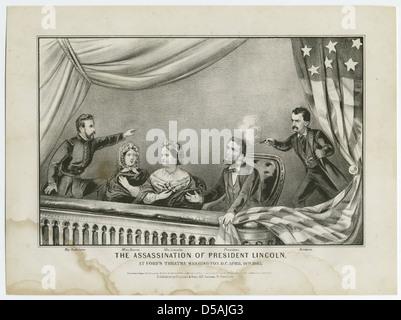 L'assassinat du président Lincoln Banque D'Images