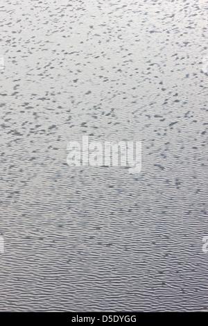 Gouttes de pluie et les ondes à la surface d'un lac de la toundra dans la section ouest de Denali National Park, Banque D'Images