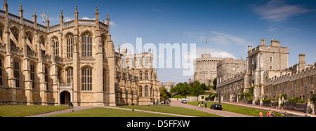 L'Angleterre, Berkshire, Windsor, Château vue panoramique à partir de la Chapelle St George Banque D'Images