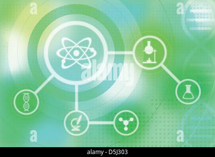 Illustration de la recherche scientifique et le développement Banque D'Images