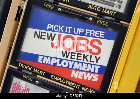 L'emploi de papier hebdomadaire, de l'emploi News Stand Banque D'Images