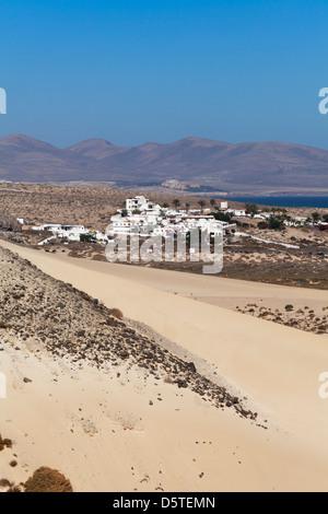 Sur les dunes de la casa Risco del Paso, Fuerteventura, Îles Canaries, Espagne Banque D'Images