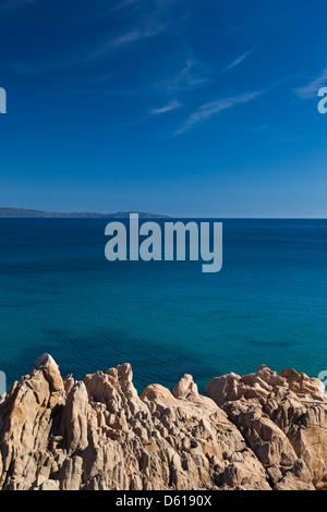 France, Corse, Ajaccio, pointe de la Pirata, vue sur l'océan Banque D'Images