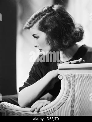 KATHARINE HEPBURN (1907-2003) Actrice américaine vers 1934 Banque D'Images
