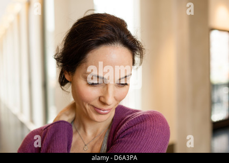 Close up of woman's smiling face Banque D'Images