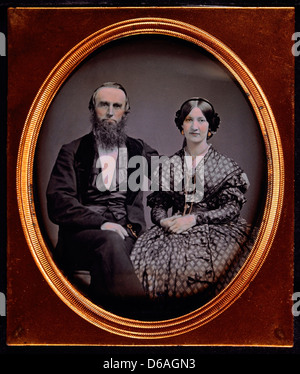 Couple in Formal attire, Portrait, daguerréotype, vers 1850 Banque D'Images