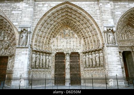 Cathédrale Notre Dame de Paris Banque D'Images
