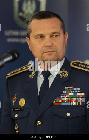 17ème, avril 2013 V4 et l'Ukraine de Visegrad Gropu réunion des chefs d'état-major à Sopot en Pologne , chef de Banque D'Images