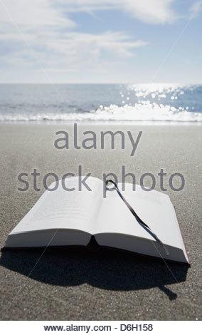 Plage de sable à livre ouvert Corse Prunete Banque D'Images