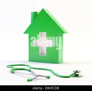 Les soins à domicile, conceptual artwork Banque D'Images