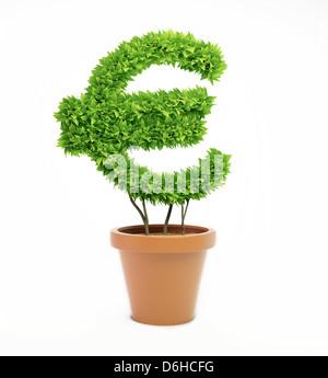 L'économie verte, conceptual artwork Banque D'Images