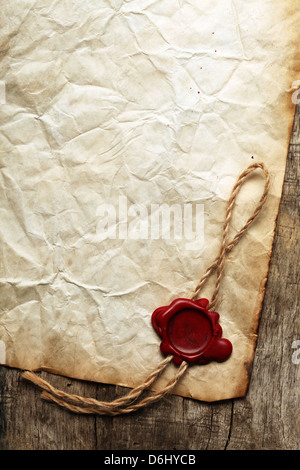 Vieux papier blanc avec joint a Banque D'Images
