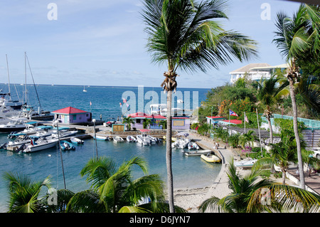 Le Leverick Bay Resort and Marina, Virgin Gorda, îles Vierges britanniques, Antilles, Caraïbes, Amérique Centrale Banque D'Images