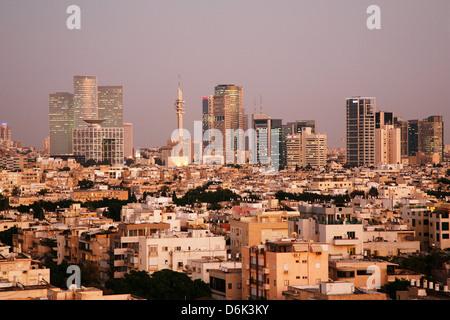 Vue sur les toits de Tel Aviv, Israël, Moyen Orient Banque D'Images