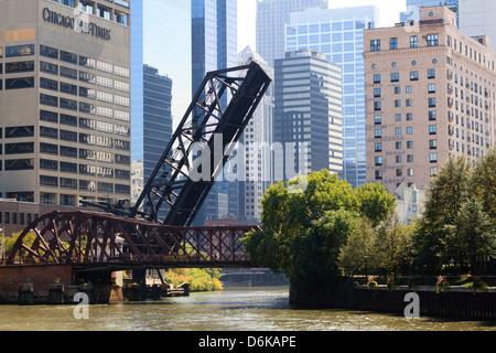 Scène de la rivière Chicago, Chicago, Illinois, États-Unis d'Amérique, Amérique du Nord Banque D'Images